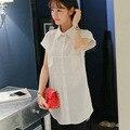 Мода Топы 2016 Женщин Плюс Размер Женщин Одежда Блузки С Короткими рукавами Свободные Шифон Блузка Blusas Feminino ~ C1174