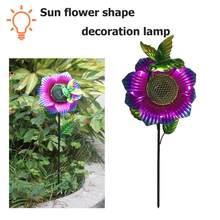 Sun Flower Solar LED Ground Light Warm White Outdoor Lawn Landscape Lamp Novelty Garden Lawn Lamp Light Garden Decoration Lights(China)