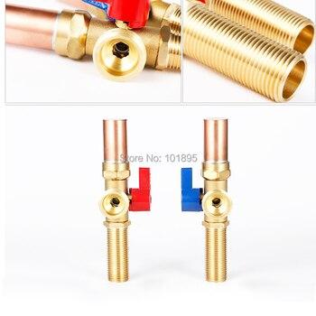 клапаны для стиральных машин | Латунный материал стиральная машина Угловой клапан для воды