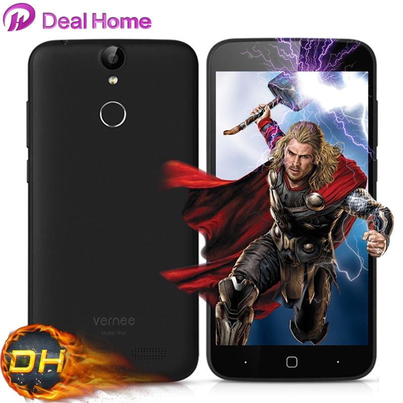 """Цена за Vernee Тор 4 Г Android 6.0 MTK6753 Octa Core 8.0 MP 5 """"Отпечатков Пальцев 3 Г RAM 16 Г ROM гладкая 7.9 мм Смартфон"""