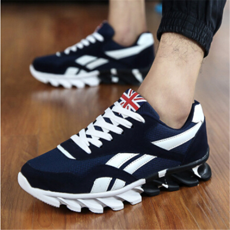 UK Shoes Store - New Fashion Breathable Sneakers Sport Casual Running Gold Canvas Mens Shoes 54