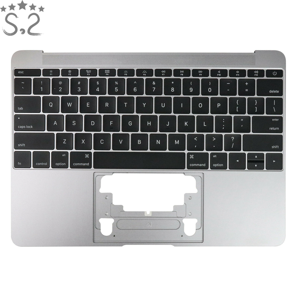 US Layout Topcase For Macbook 12 A1534 US Top Case Palm Rest w/ Keyboard with Keyboard and Backlight 2016 Year image