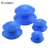4pcs Vacuum Massage Anti Cellulite Silicone Vacuum Cupping Massage Health Care Family Body Massager Cupping Neck