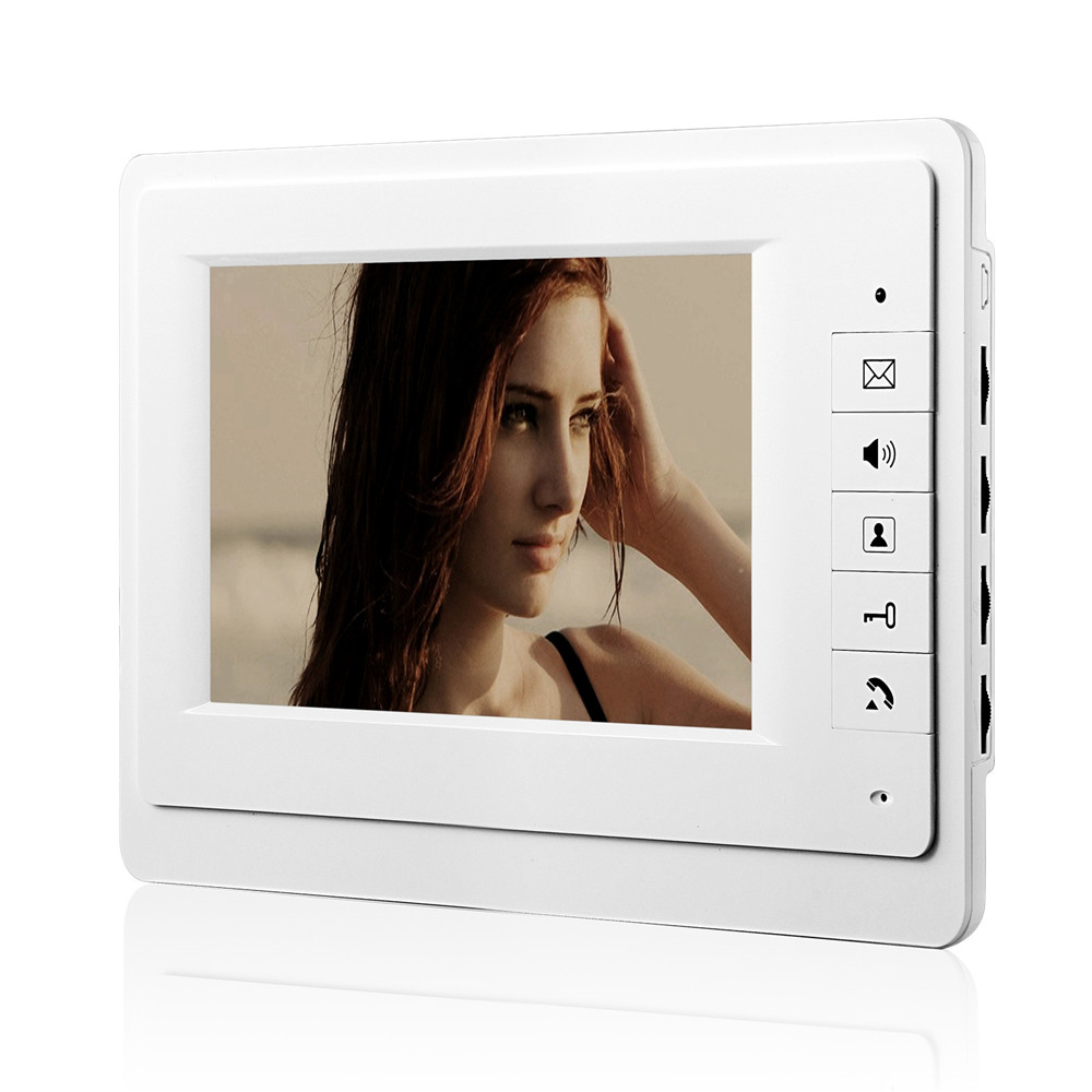 XinSiLu 7 LCD Wired Video Door Phone Intercom CMOS Night Vision Camera with RFID Door Access Control System saful 7 inch lcd wired video door phone intercom waterproof night vision button electric lock control function free shipping