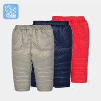 Children's pants children's baby pants men and women baby thickening plus cotton pants newborn 1 2 3 years old autumn and winter