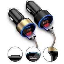 Автомобиль прикуривателя Универсальный USB адаптер Dual Usb Автомобильное Зарядное устройство 3.1A автомобиля Зарядное устройство с автомобиля Напряжение Дисплей для телефона moto зажигалка usb прикуриватель