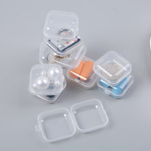 10pcs Mini Clear Plastic Small Box Jewelry Earplugs Storage Box Case Container Bead Makeup Transparent Organizer Gift boxes(China)