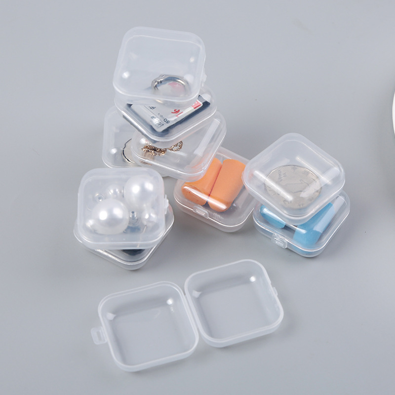 10pcs Mini Clear Plastic Small Box Jewelry Earplugs Storage Box Case Container <font><b>Bead</b></font> Makeup Transparent <font><b>Organizer</b></font> Gift boxes image