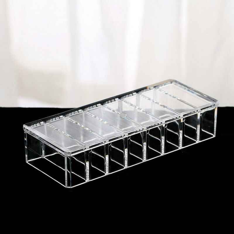 New Makeup Organizador Clear Acrylic Brush Lipstick Holder Makeup Organizer Cosmetic Makeup Tools Storage Box Case