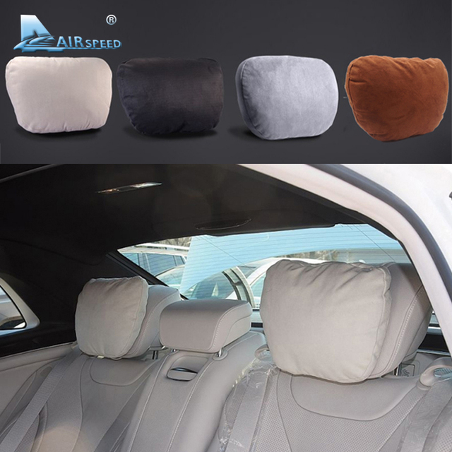 Airspeed 2pcs maybach design s class car headrest neck for Mercedes benz car seat cushion