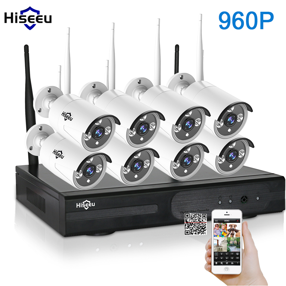 CCTV System 960P 8ch HD Wireless NVR kit Outdoor IR Night Vision IP Camera wifi  Camera kit Home Security System Surveillance 720p full hd h 264 waterproof outdoor ir night vision ip camera wifi security cctv system 8ch wireless nvr surveillance kit