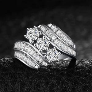 Image 3 - JewelryPalace Engagement Ring 925 Sterling Silver Rings for Women Anniversary Ring Wedding Rings Channel Set Silver 925 Jewelry