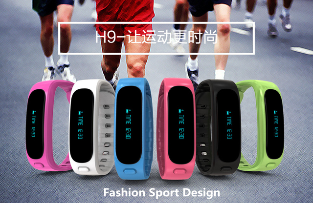 Nueva llegada de fitness usable dispositivo h9 bluetooth pulsera inteligente con llamada y mensaje recordatorio inteligente sport band pk mi 2