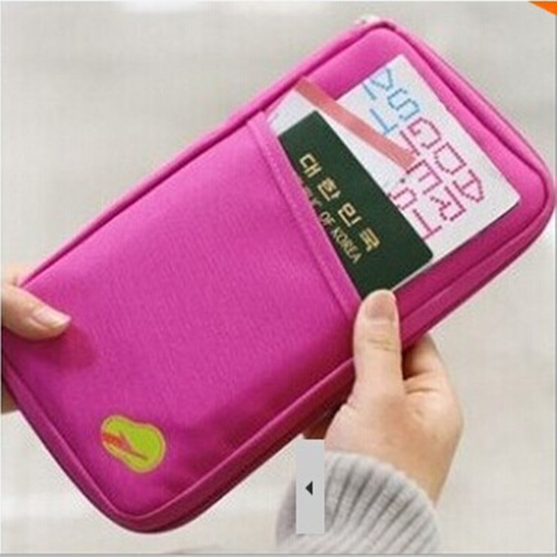 200 PC Unisex Travel Passport Credit ID Card Cash Wallet Purse Holder Document Bag Handb ...