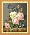 Costura, DMC DIY de punto de cruz, Conjuntos De kits de Bordado, Patrones de Flores de peonía Pintura Al Óleo de punto de Cruz, de Pared Inicio Decro