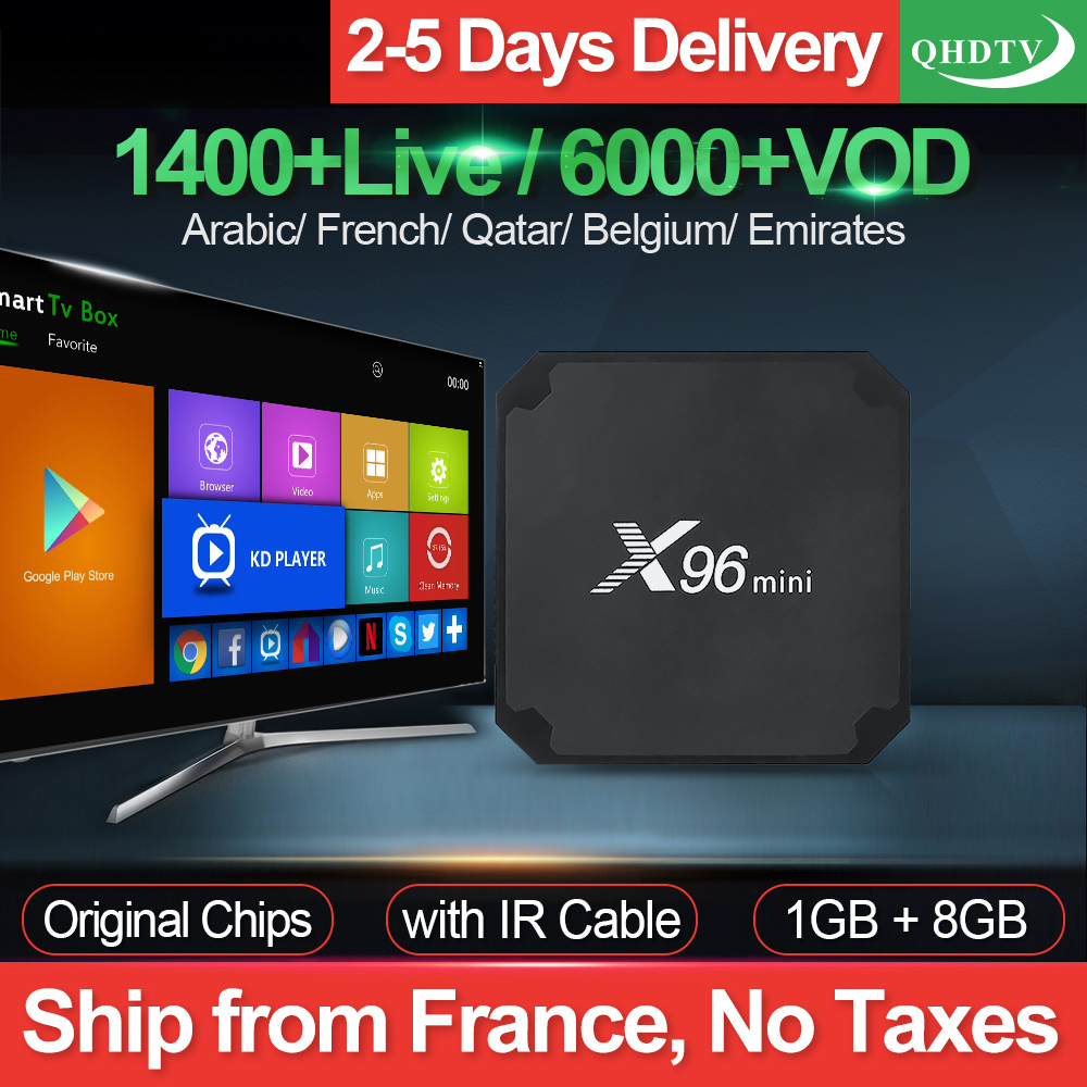 X96 Mini IPTV France arabe QHDTV 1 an IPTV Code Android7.1 1G 8G français belgique maroc pays-bas IP TV X96mini Android Box