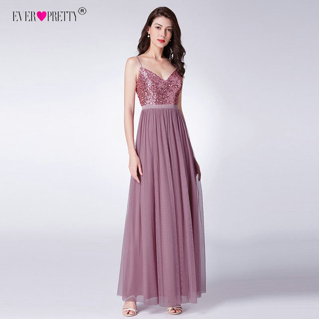 Ever Pretty Long Prom Dresses 2019 Pleated A-Line Floor-Length Vestido De Festa Women Elegant Sleeveless Banquet Party Dress 2