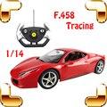 Мальчики Подарок 1/14 F458 RC Управления По Радио Автомобиль Игрушки Для Автомобиля вентиляторы Гоночный Автомобиль Скорость Гоночного Автомобиля Большой Электрический Машина Модель Racer