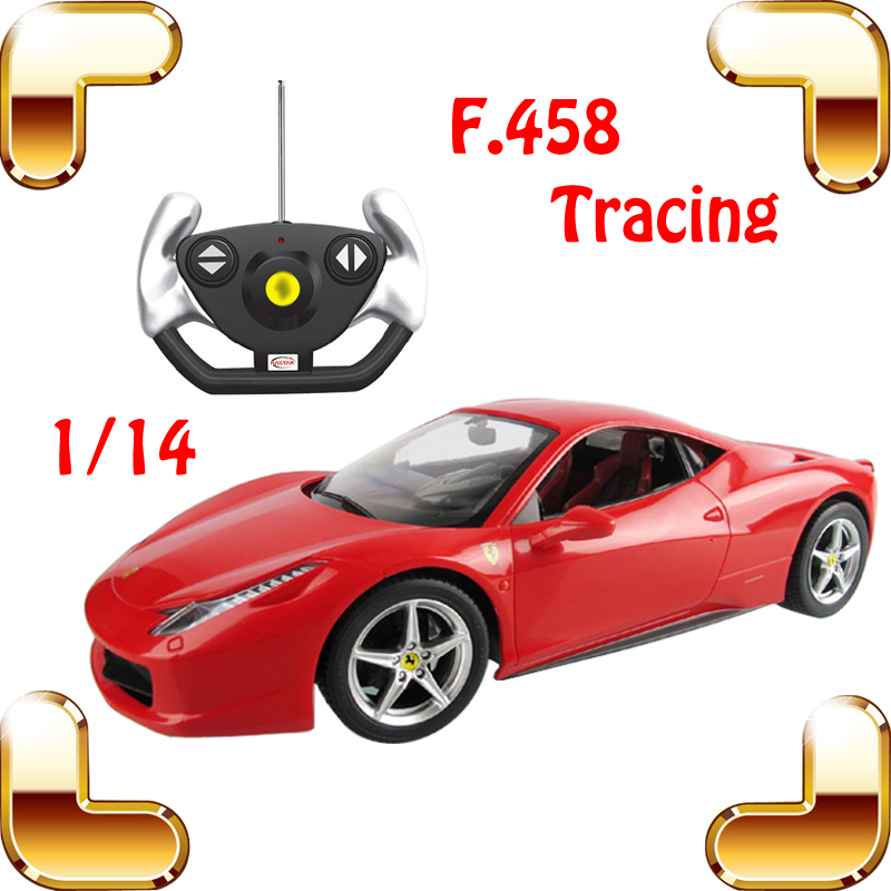 ФОТО Boys Gift 1/14 F458 RC Radio Control Car Toys For Car Fans Racing Vehicle Speed Race Car Big Electric Machine Model Racer