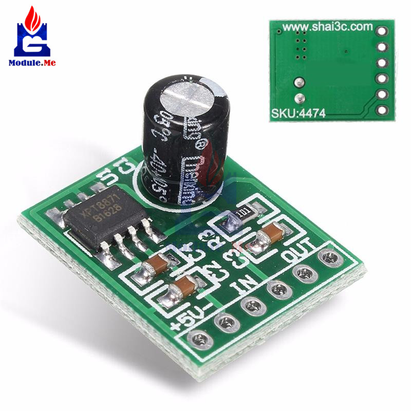 Mini XH-M125 XPT8871 Mono Stereo Lithium Battery Power Amplifier Module Board Audio Output Input 6W Sing Machine Module 3V 5V 5W