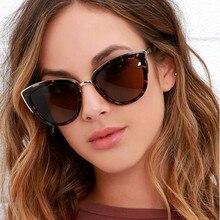 HJYBBSN Classic Cat Eye Sunglasses Women Vintage Large Leopard Gray Sun Glasses Shades 2019 Trendy Cats UV400