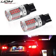 IJDM – feux arrière de voiture 7443 Canbus rouge brillant W21/5W T20, ampoules de remplacement pour frein de voiture/Parking Lig