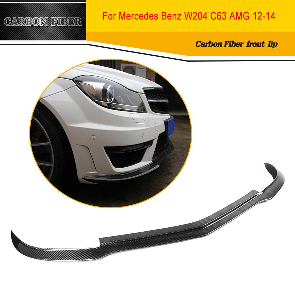 Carbon Fiber Car Styling Front Lip Spoiler Apron For Benz W204 C63 AMG Bumper 2012-2014 image