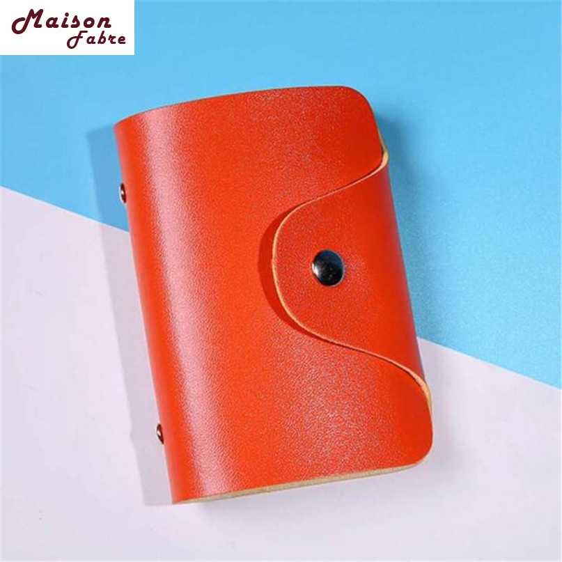 Hot Men Women Leather Credit Card Holder Case Card Holder Wallet Business Card Drop Shipping 2019