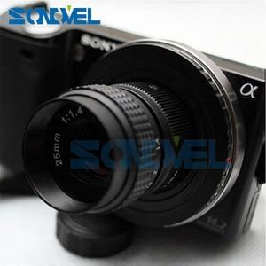 "Image 3 - 25 מ""מ F1.4 עדשת טלוויזיה במעגל סגור טלוויזיה בסרט + C הרכבה 1 AW1 S2 J4 j5 J3 J2 J1 V3 V2 V1 C NI C Nikon 1"