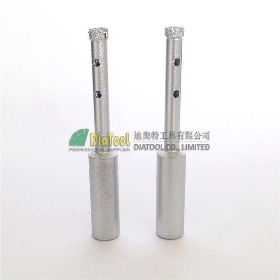 DIATOOL 2 pezzi diametro 6 mm di qualità professionale punte diamantate sottovuoto diamantate con gambo tondo punte per perforazione a secco o umido foro diamantato visto