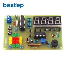 Music Colorful Alarm Clock Parts STC MCU Alarm Clock Four Digital Clock DIY Electronic