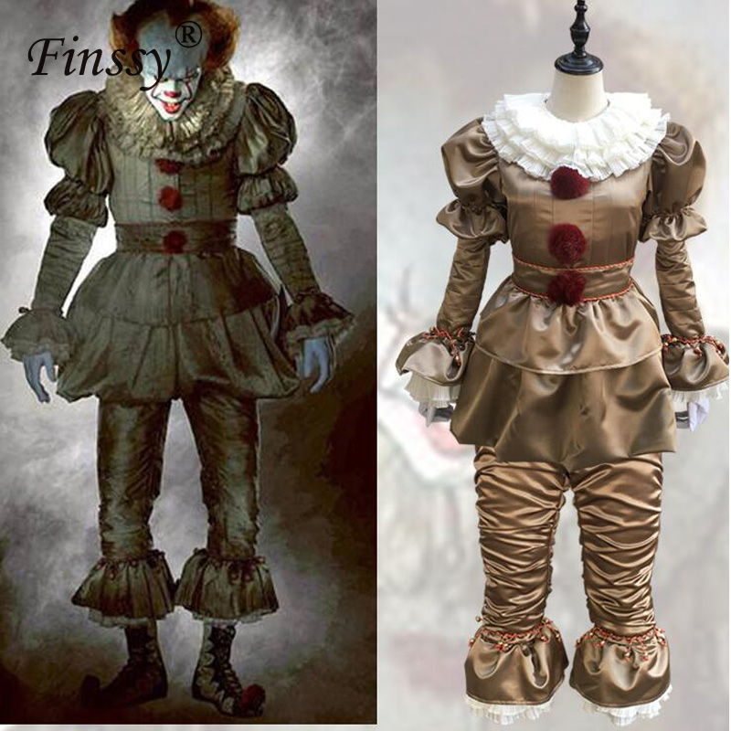 Clown Stephen King's It coplay Halloween Carnival Party Funny Costume  Women Halloween Costume