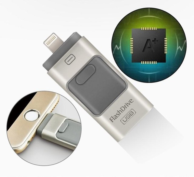Новый я-Flash Driver HD u-диск передачи данных Молнии для iphone/ipad/iPod, micro usb интерфейс флэш-накопитель для PC/MAC 16 Г/32 Г/64 Г