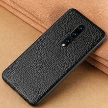 Genuine Leather Case For Oneplus 7 Pro 6 6T Phone Cover for One Plus 5 5T luxury 360 Full Protective Litchi Grain