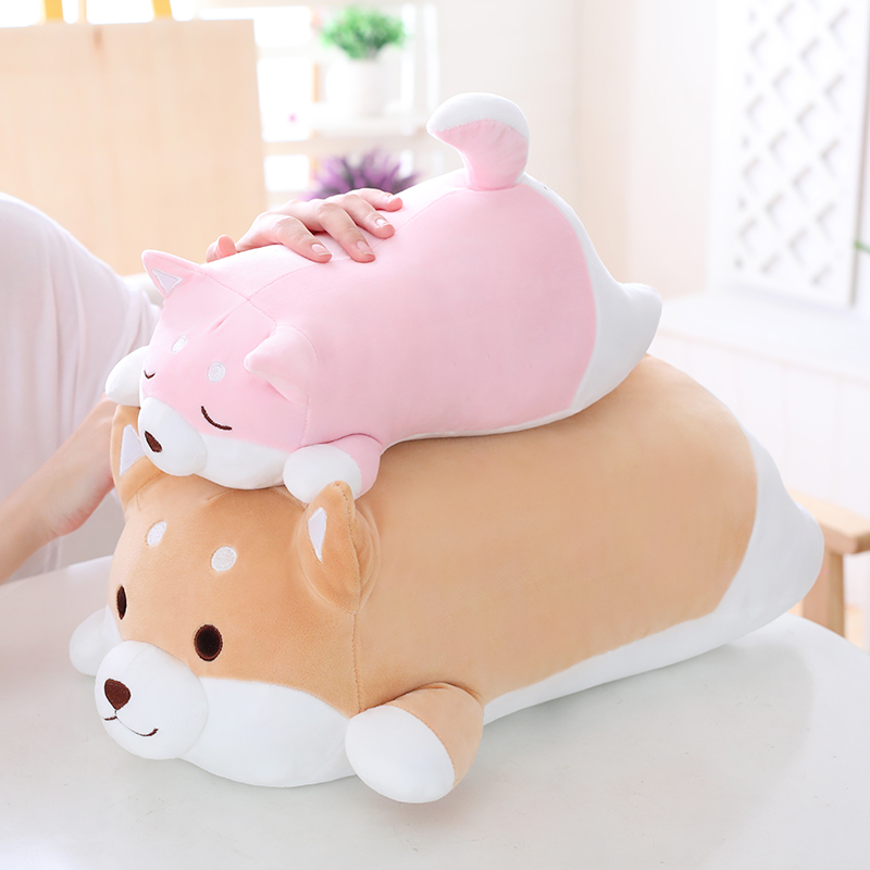 1pc 36/55cm Soft Kawaii Fat Shiba Inu Dog Plush Toy Stuffed Cute Animal Cartoon Pillow Lovely Gifts for Kids Children Gifts qwz1pcs 25cm cute wear scarf shiba inu dog plush toy soft animal stuffed toy smile akita dog doll for lovers kids birthday gift