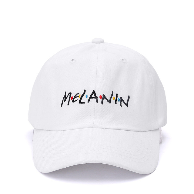 High Quality Melanin Dad Hat Fashion Embroidery Baseball Cap Cotton Casual  Snapback Hip Hop Hat Cap For Men Women Bone 1117a811b61