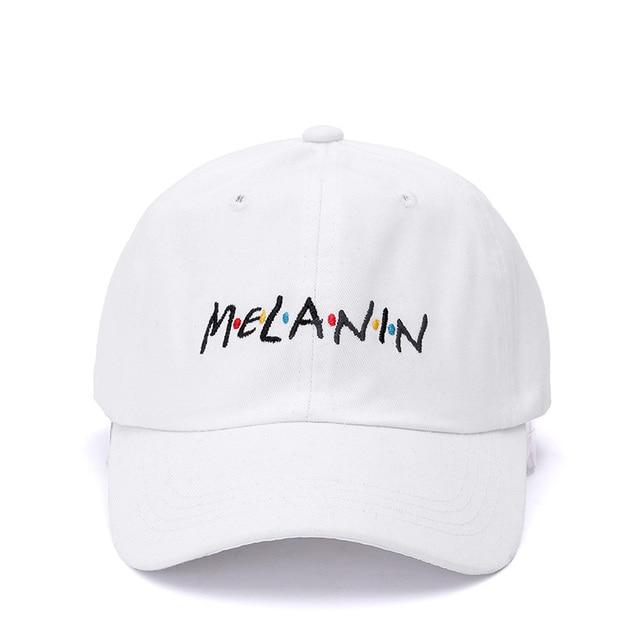 High Quality Melanin Dad Hat Fashion Embroidery Baseball Cap Cotton Casual  Snapback Hip Hop Hat Cap For Men Women Bone 6164ddae100c