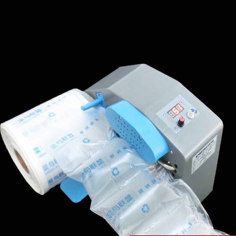 Bufor maszyna do poduszek powietrznych 110 V/220 V regulowany worek z bąbelkami ciągłe, automatyczne nadmuchiwane maszyna z 2 rolki filmu za darmo