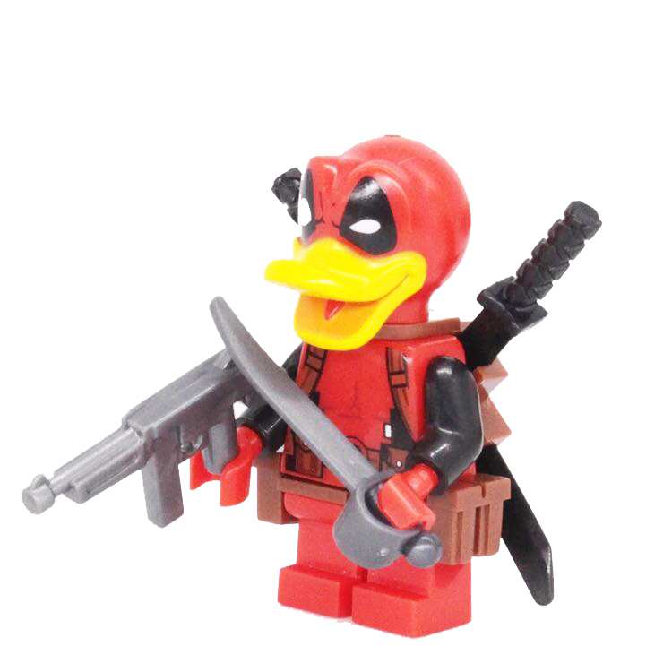 Single Sale Super Heroes Red Deadpool Duck The Flash Punisher Michael Myers Bricks Building Blocks Children Gift Toys single sale super heroes yellow red black flash bane green lantern firestorm building blocks bricks toys for children gift kf262