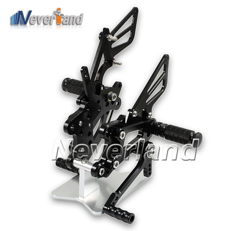 1Set Motorcycle Black Rearset Foot Pegs Footrest Rear Set for Honda CBR 600RR F5 2007-2012 2008 2009 2010 2011 D10 car rear trunk security shield shade cargo cover for nissan qashqai 2008 2009 2010 2011 2012 2013 black beige