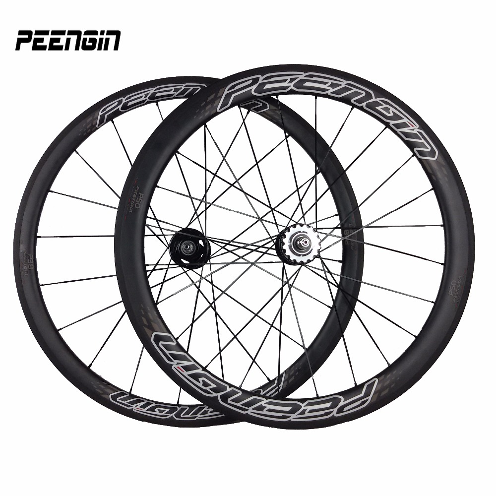 <font><b>fixie</b></font> bicycle <font><b>wheels</b></font> 700C 38mm Front 50mm Rear mixed Clincher Carbon Fixed Gear <font><b>bike</b></font> parts Wheelsets V brake systems fietswielen image