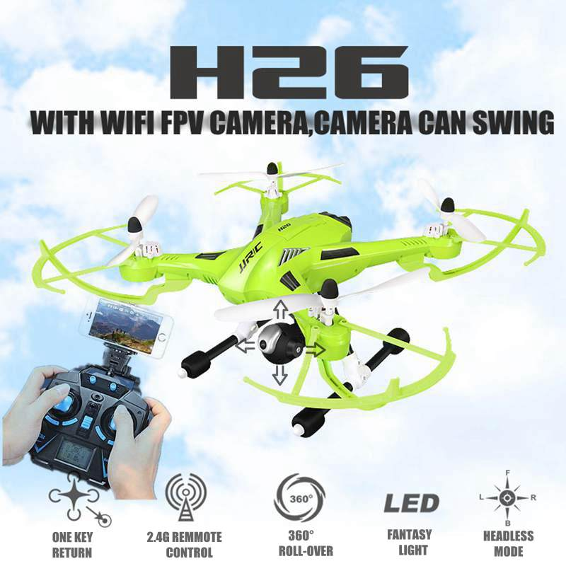 Fpv Drones With HD Camera Jjrc H26 Swing Wifi Radio Camera Hexacopter Professional Drone Dron Rc Quadcopter Flying Helicopter yuneec typhoon h 5 8g fpv drone with realsense module cgo3 4k camera 3 axis gimbal 7 inch touchscreen rc hexacopter rtf