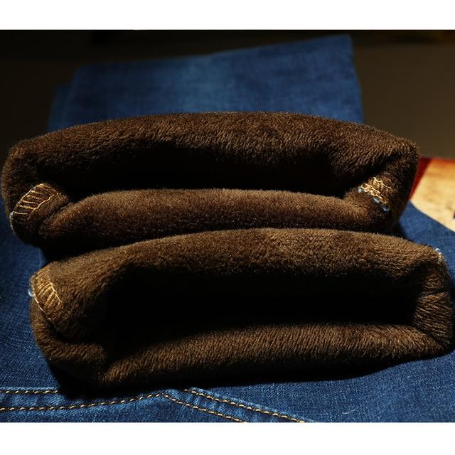 AIRGRACIAS 2019 New Men Warm Jeans High Quality Famous Brand Autumn Winter Jeans Thicken Fleece Men Jeans Long Trouser 28-42 6