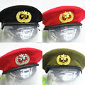 Men Women Outdoor Breathable Wool Beret Hats Caps with Cockade Special Forces Soldiers Death Squads Military Training Camp Hat