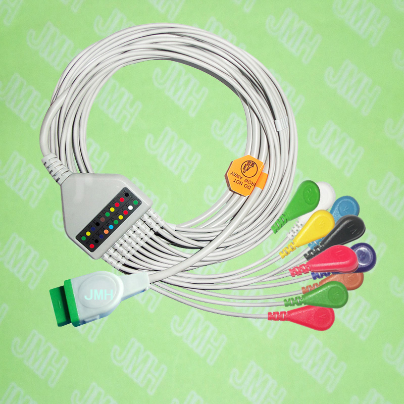 Compatible with 11 pin GE,Solar,Dash,Tram,Datex Ohmeda EKG Machine,One-piece 10 lead cable and Snap leadwires,IEC or AHA. keyboard suitable for ge datex ohmeda 7100 panel keyboard