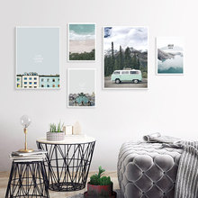Nordic Poster Painting Sea Posters And Prints Quotes Ocean Landscape Canvas Wall Art Pictures For living Room