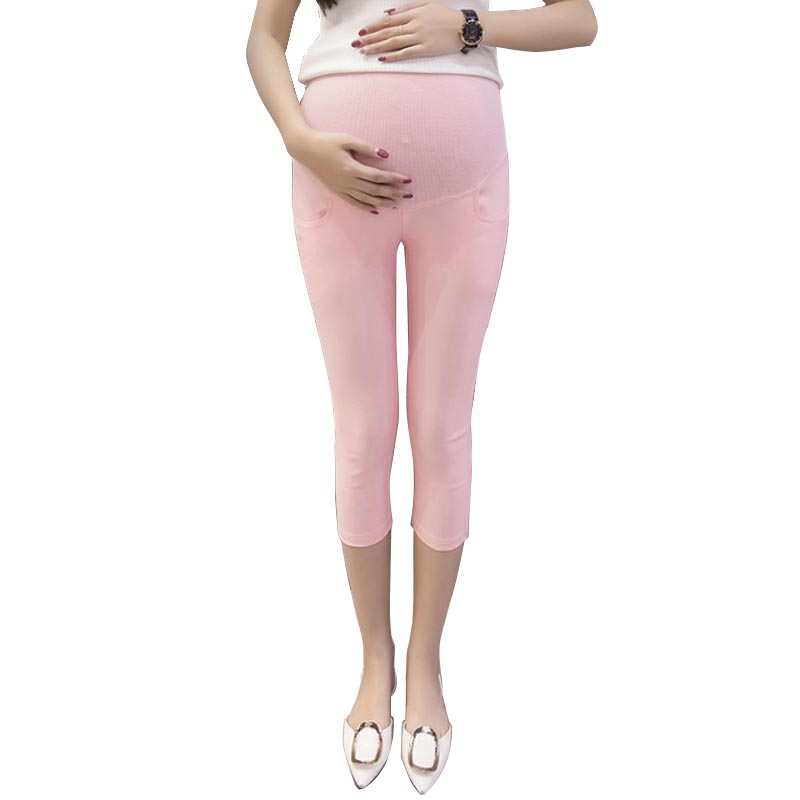 Pencil Skinny Pants Maternity Shorts Elasticity Seven Casual Pregnancy Clothes Capris Trousers For Pregnant Women gravida roupa
