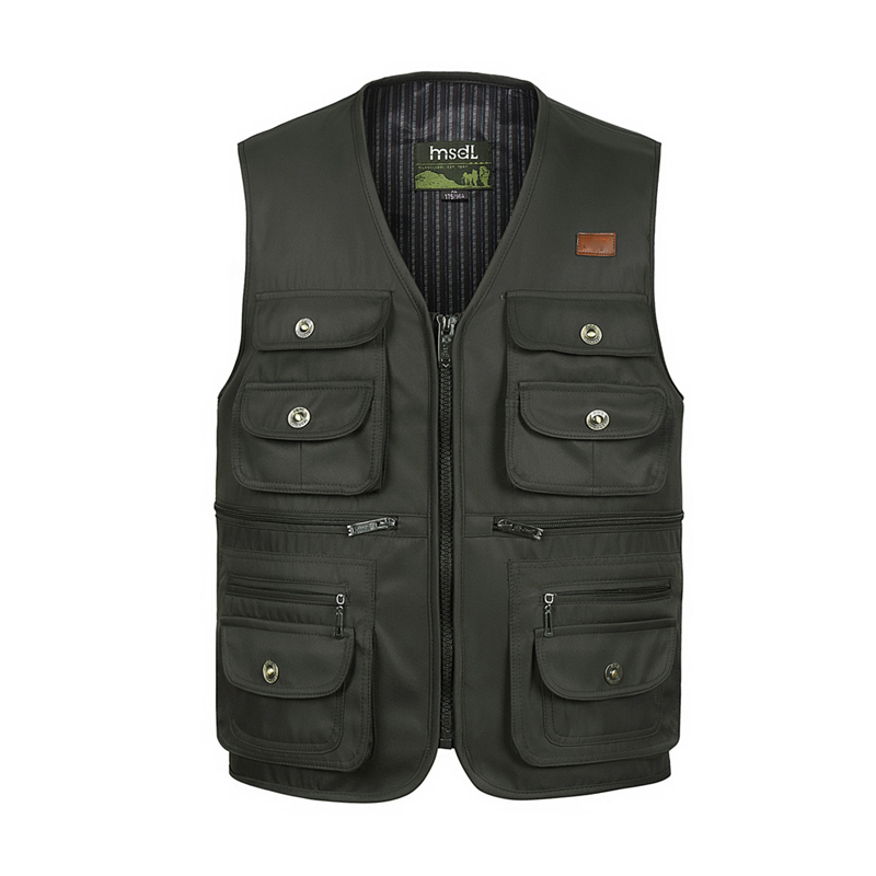 Thin Summer Casual Vest For Men Classic Multi Pocket Brand Photographer Sleeveless Waistcoat Outerwear Jacket With Many Pockets