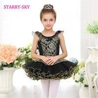 New Arrival Kids Girls Black Classic Ballet Tutu Skirt Dress Customized Ballet Dancewear Dresses Dance Tutu