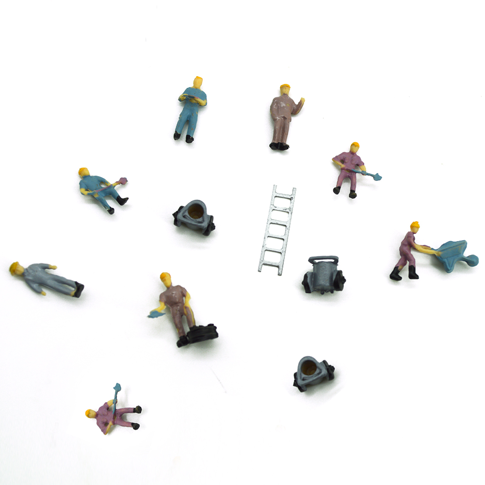 train Ho architectural scale model railway workers 1:87 model workers for sale
